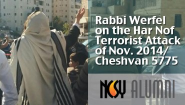 Rabbi Werfel on witnessing the Har Nof attack, Cheshvan 5775