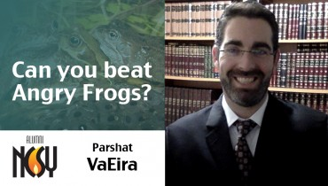 Parshat VaEira – Can you beat Angry Frogs? – Rabbi Adi Isaacs, Director of Thrive at Hebrew U