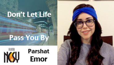 Parshat Emor – Don't Let Life Pass You By – Bari Mitzman, New York, West Coast, EuroICE