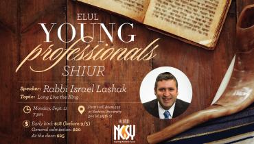 Young Professionals Elul Shiur